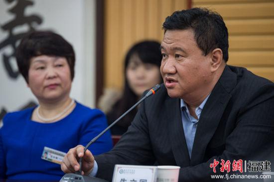 中国医学科学院望京医院院长、主任医师、博导朱立国教授致辞。李南轩摄