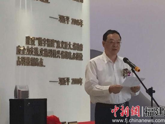 福州市副市长严可仕致词,赞扬无创心电的善举