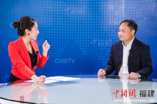 福建创新创投总经理陈颖做客中国新闻网(福建)演播厅。李南轩