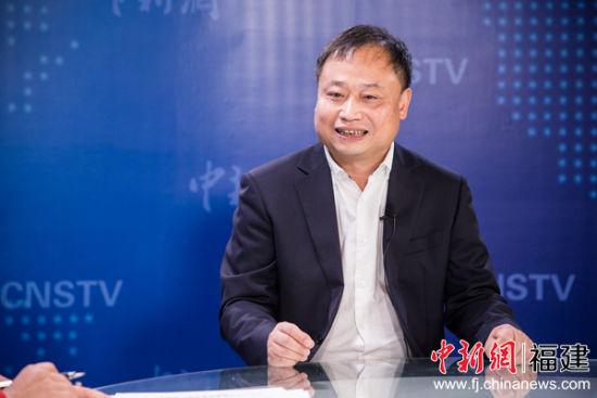 陈颖接受中国新闻网(福建)专访。李南轩