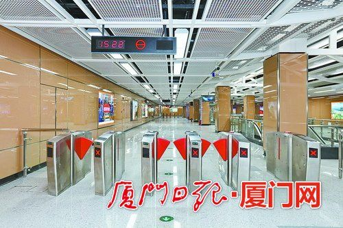 负一层站厅层乘客在这里购票及出入闸