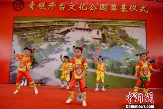 台湾台南市新山小学民俗表演。王东明 摄