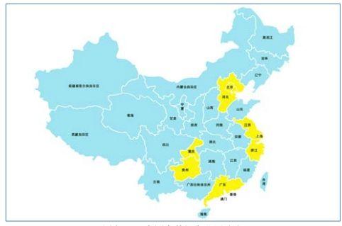 中国大数据产业圈分布图
