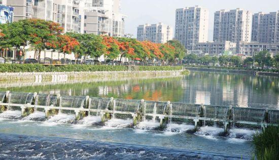 平和县城河滨慢道美景一瞥