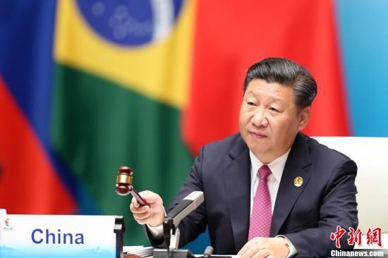 9月4日,金砖国家领导人第九次会晤在厦门国际会议中心举行。澳门网上博彩娱乐官网国家主席习近平主持会晤。中新社记者 盛佳鹏 摄