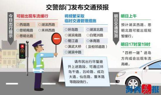 www.pj762.com点击进入官网交警部门发布厦门及入厦高速、国道交通情况预