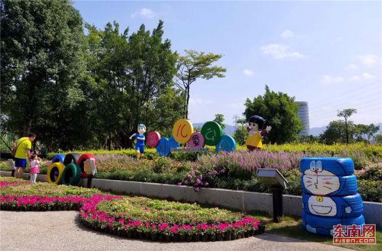 今年国庆期间,福州儿童公园园区美化、提升工程圆满完成。(资料图片)