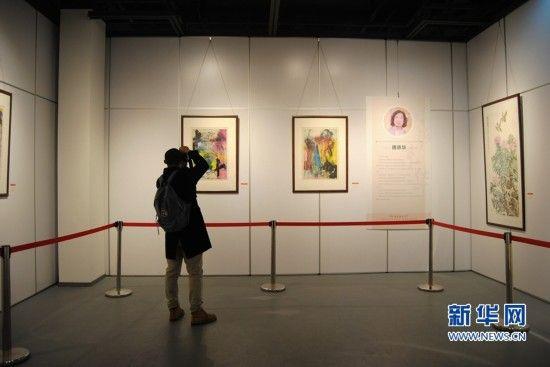 首届福建旅京著名书画家作品邀请展在福州举办。新华网 刘丰 摄