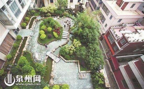 市区一医院楼顶,病人可到花园透气。