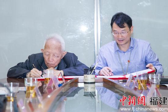 在成立仪式上,双方签订了《福建省建筑设计研究院有限公司院士工作站合作协议书》。李南轩 摄