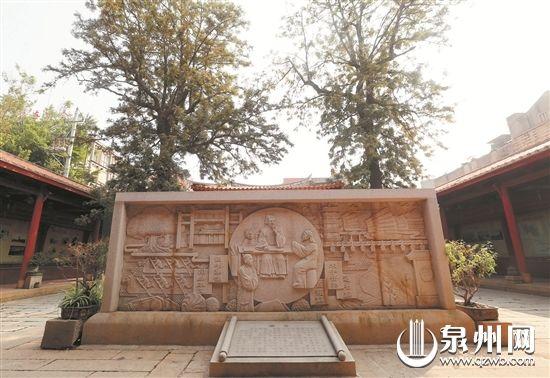 石井书院内的朱松讲学图