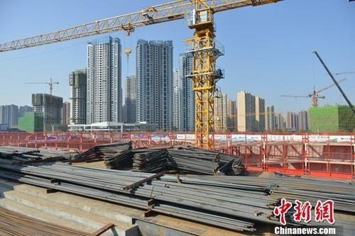 资料图:成都一在建房产项目。中新社记者 张浪 摄