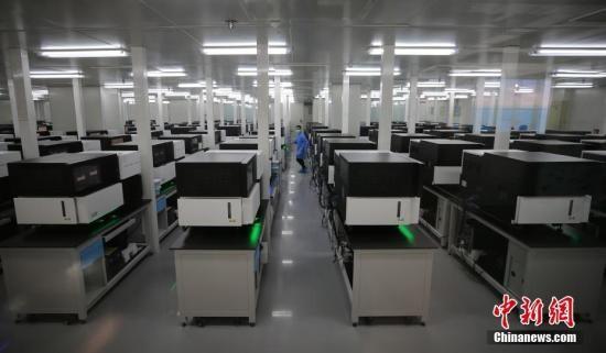 资料图:年轻的科研人员在国家基因库内工作。中新社记者 杨可佳 摄