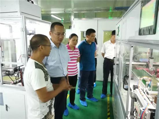 上图:考察江门市地尔汉宇电器股份有限公司