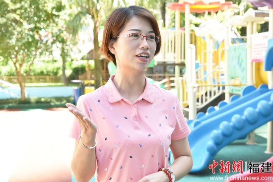福州融侨幼儿园副园长陈晶表示,今后将着力培养儿童口腔健康的良好习惯。谢帝谣 摄