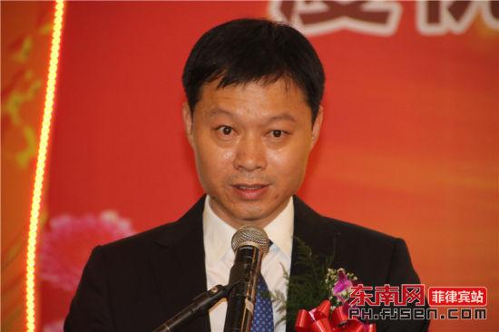新届理事长吴青阳致辞。