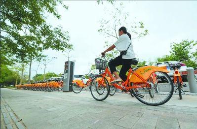 公共自行车方便市民出行。