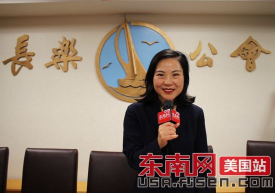 美国纽约曼哈顿民事法庭第二选区民主党华裔候选人李昌永接受采访。