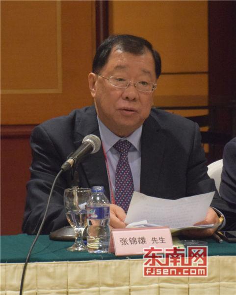 印尼中华总商会常务副总主席兼执行主席张锦雄讲话。