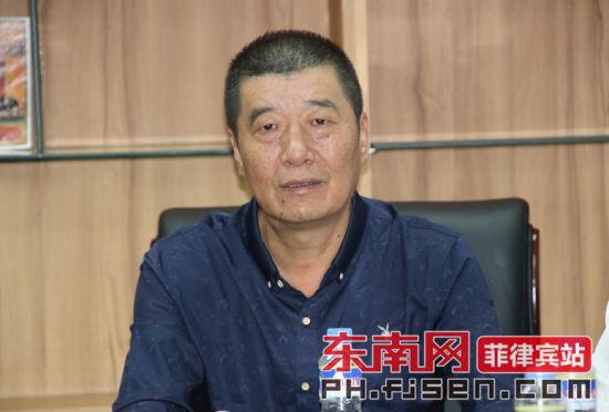 厦门獭窟旅厦乡亲联谊会常务副会长曾庆瑞讲话。