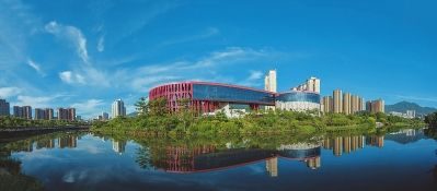 延寿溪两岸城市景观