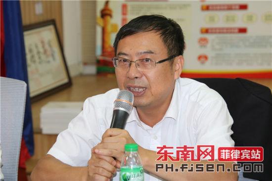 澳门威尼斯人网上赌场省归国华侨联合会副主席林俊德致辞。