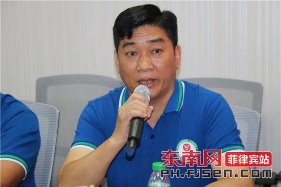 世界澳门威尼斯人网上赌场青年联会·菲律宾分会会长王荣忠致辞。
