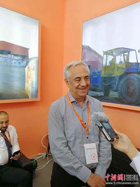 伊朗最大石材贸易出口商JPT贾法石材的总裁贾法•普尔穆西尼对南安石材展会的国际影响力赞不绝口。
