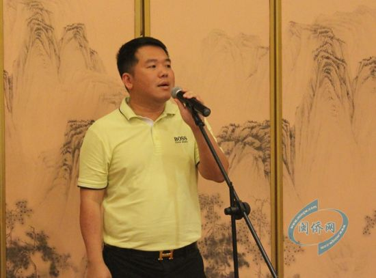 缅华精英团团长张维虎讲话。