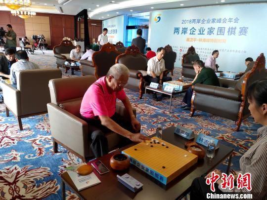 两岸企业家围棋赛,吸引了来自两岸的企业家代表以个人、联棋和团体赛三种方式进行比赛。 杨伏山 摄