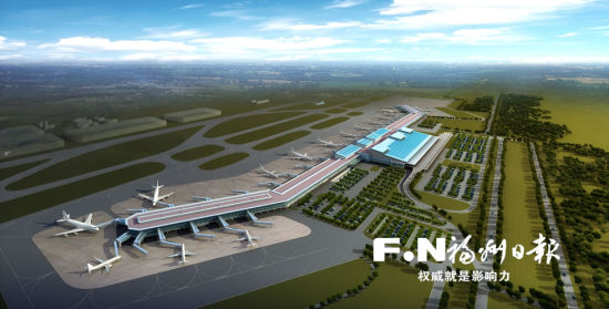 福州机场第二轮扩能效果图。福州机场供图