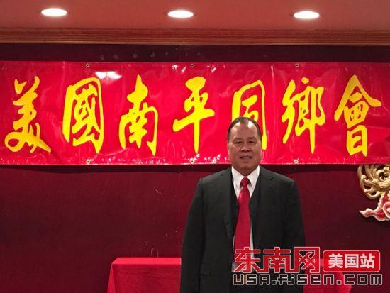 该会主席廖启先接受东南网记者采访。