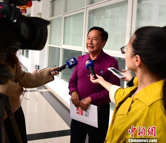 厦门市工业设计协会会长陈全志接受记者采访。供图