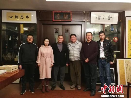 香港知名导演高满锴先生(右三)到访福清黄檗文化促进会。 陈芝宽 摄