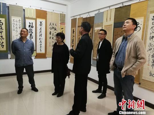 德国哈尔博格学院院长王缜(女)日前参访福清黄檗文化促进会。 陈芝宽 摄