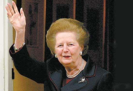 资料图:英国前首相玛格丽特·希尔达·撒切尔。