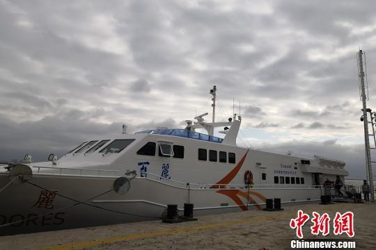 """12月27日起,台湾籍客船""""百丽""""轮投入泉金航线运营。 徐建伟 摄"""