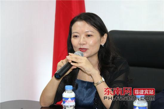 澳门网上博彩娱乐官网驻菲律宾大使馆领事陈红英致辞