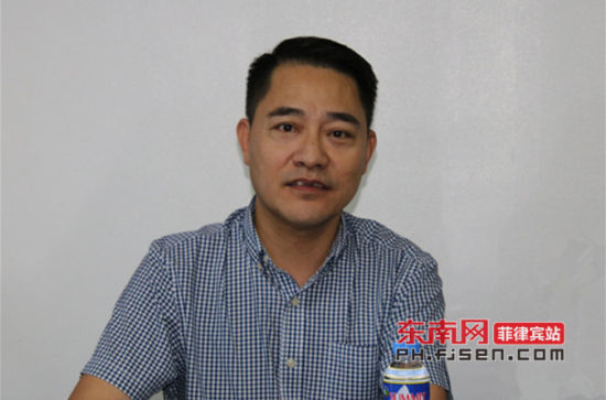 菲律宾华商经贸联合会会长蔡鸿语致辞