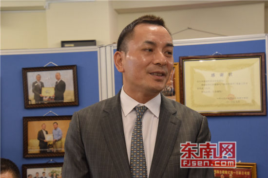 日本福建经济文化促进会会长吴启龙发言。