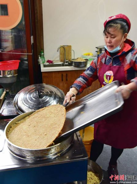 3月8日美食高阳锅巴制作。
