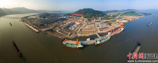 马尾船厂生产基地连江粗芦岛建设时场景。船厂供图摄