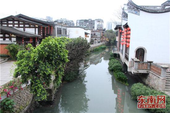 福州上下杭历史文化街区经过近年来的修复改造,在去年9月开街。东南网记者 卢金福 摄