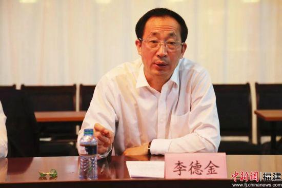"""李德金指出,当前国家正在推进""""一带一路""""建设,中国武夷要紧抓机遇,认真总结经验,明确发展方向,进一步打响中国武夷品牌。福建建工集团 供图"""