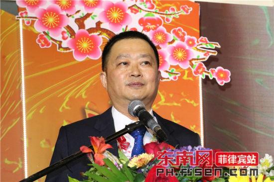 兢业社总社上届理事长黄冠华担任大会主席并致辞