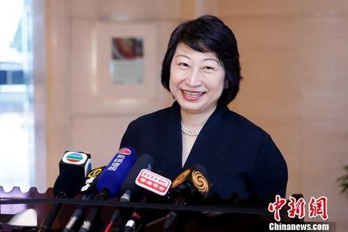 资料图:香港特别行政区政府律政司司长郑若骅。中新社记者 韩海丹 摄