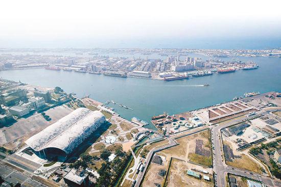 """高雄亚洲新湾区鸟瞰景。(图片来源:台湾""""中时电子报"""")"""