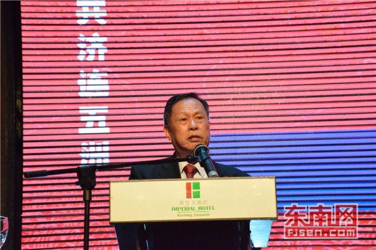 世福总会总会长吴换炎致辞。东南网记者陈佳丽 摄