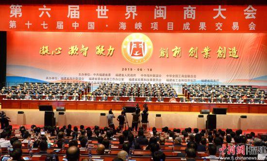 6月18日,第六届世界闽商大会在福州海峡国际会展中心隆重举行。片仔癀药业 供图