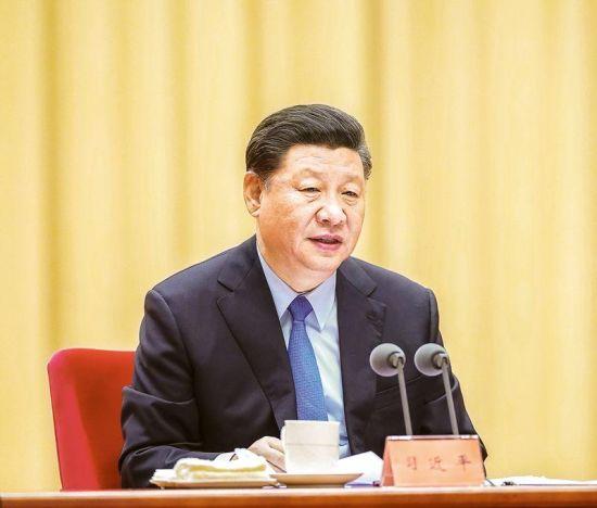 """2019年5月31日,""""不忘初心、牢记使命""""主题教育工作会议在北京召开。中共中央总书记、国家主席、中央军委主席习近平出席会议并发表重要讲话。 新华社记者 鞠鹏/摄"""